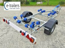 EXTREME 500kg WIDE WHEEL Roller Boat Trailer + Jet skis to 12' & Ribs to 4.3m